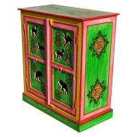 Caledonia Handpainted Solid Wood Kitchen Storage Cabinet