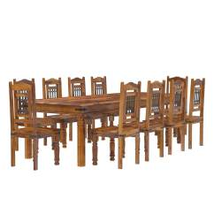10 Chair Dining Table Set Bedroom Art Deco San Francisco Rustic Furniture Large With
