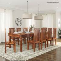 Rustic Lincoln Study Large Dining Room Table Chair Set For ...