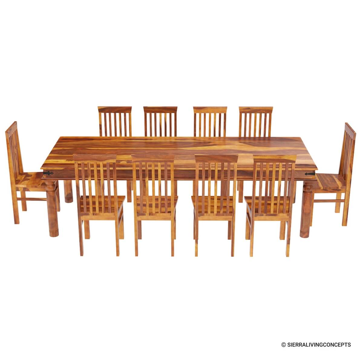 10 chair dining table set maple room chairs rustic lincoln study large for