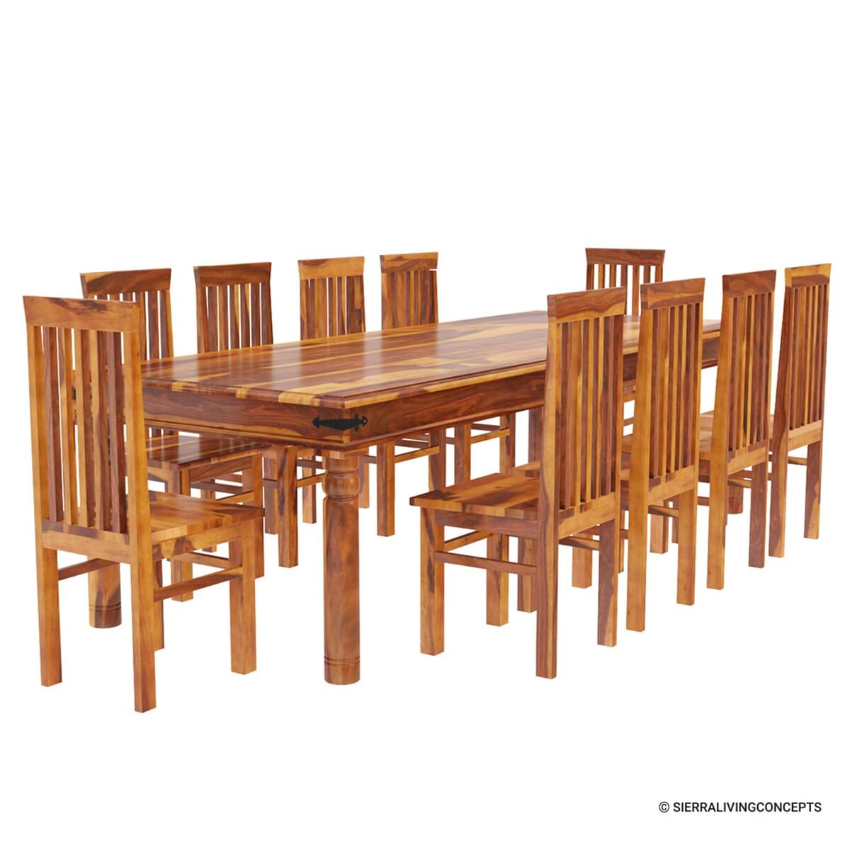 10 chair dining table set covers argos ireland rustic lincoln study large room for