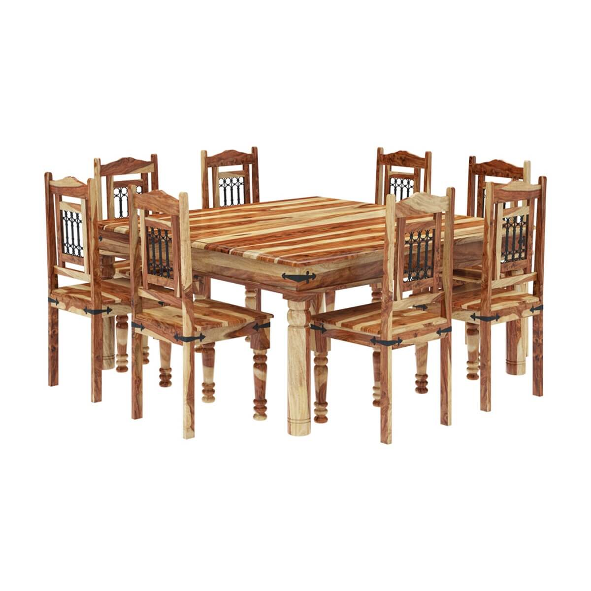8 chair square dining table desk is too low peoria solid wood large and set
