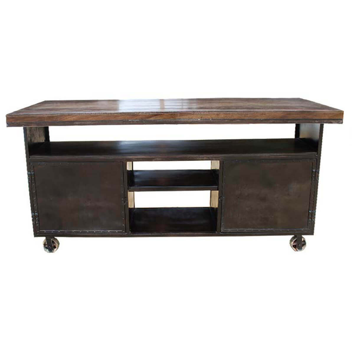 kitchen sideboard cabinet subway tile island industrial rolling large buffet