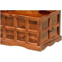 Solid Wood Handmade Traditional Coffee Table Storage Box Chest