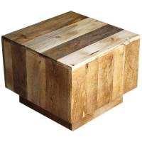 Key West Mango Wood Cube Accent Table