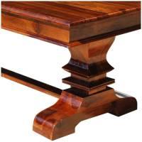Tiraspol Solid Wood Trestle Pedestal Large Rectangle ...