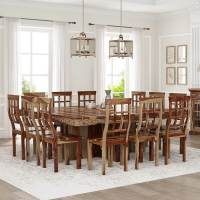 Dallas Ranch Large Square Dining Room Table and Chair Set ...
