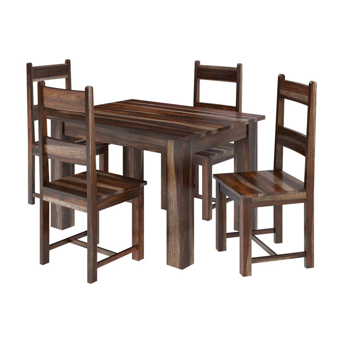 rustic dining table and chairs desk chair neck support alabama modern solid wood set