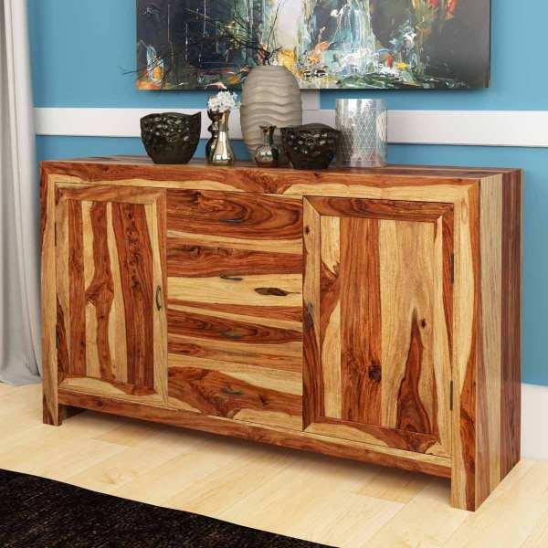 Bluffton Solid Rosewood 4 Drawer & 2 Door Sideboard Cabinet