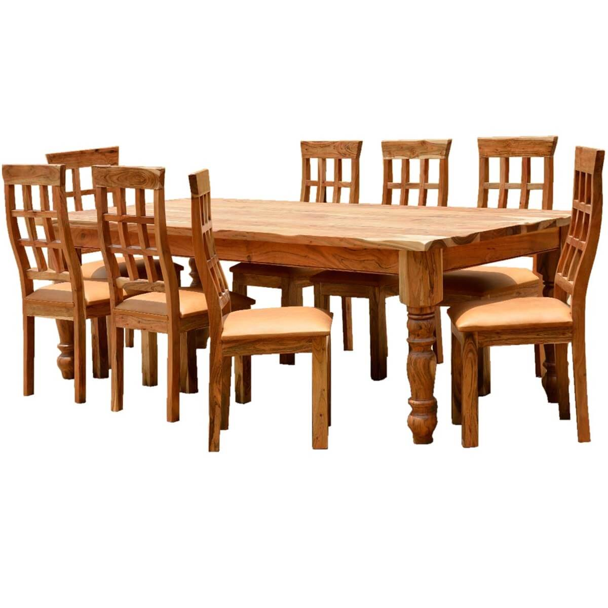 cheap farmhouse table and chairs little tikes art desk chair rustic furniture solid wood dining set
