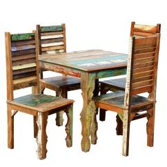 Rustic Dining Table And Chairs Recliner Chair Covers Walmart Reclaimed Wood W Shutter Back