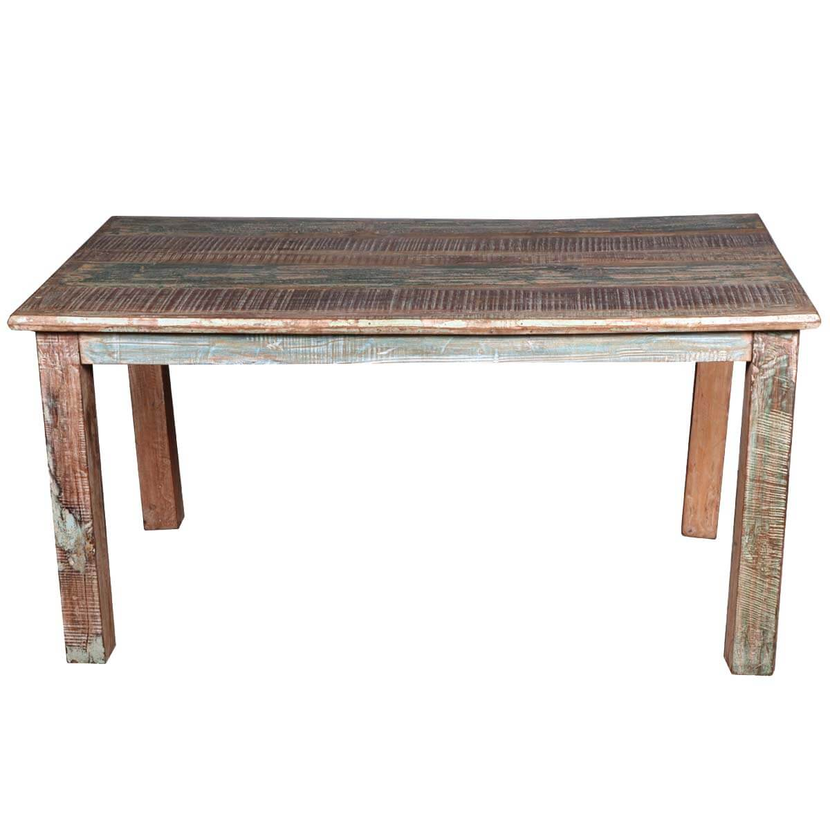 distressed kitchen table yellow mat rustic reclaimed wood dining