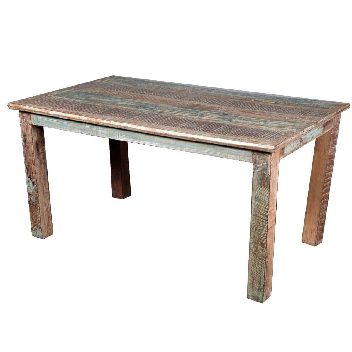 distressed kitchen table lg appliances rustic reclaimed wood dining