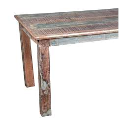 Distressed Kitchen Table Pantry Cupboard Rustic Reclaimed Wood Dining