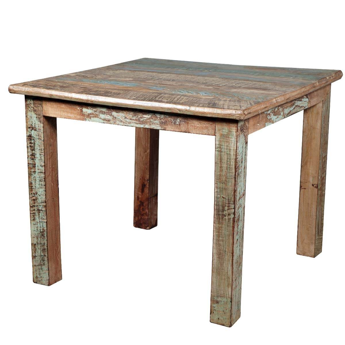 small wood kitchen table vintage curtains rustic reclaimed distressed dining