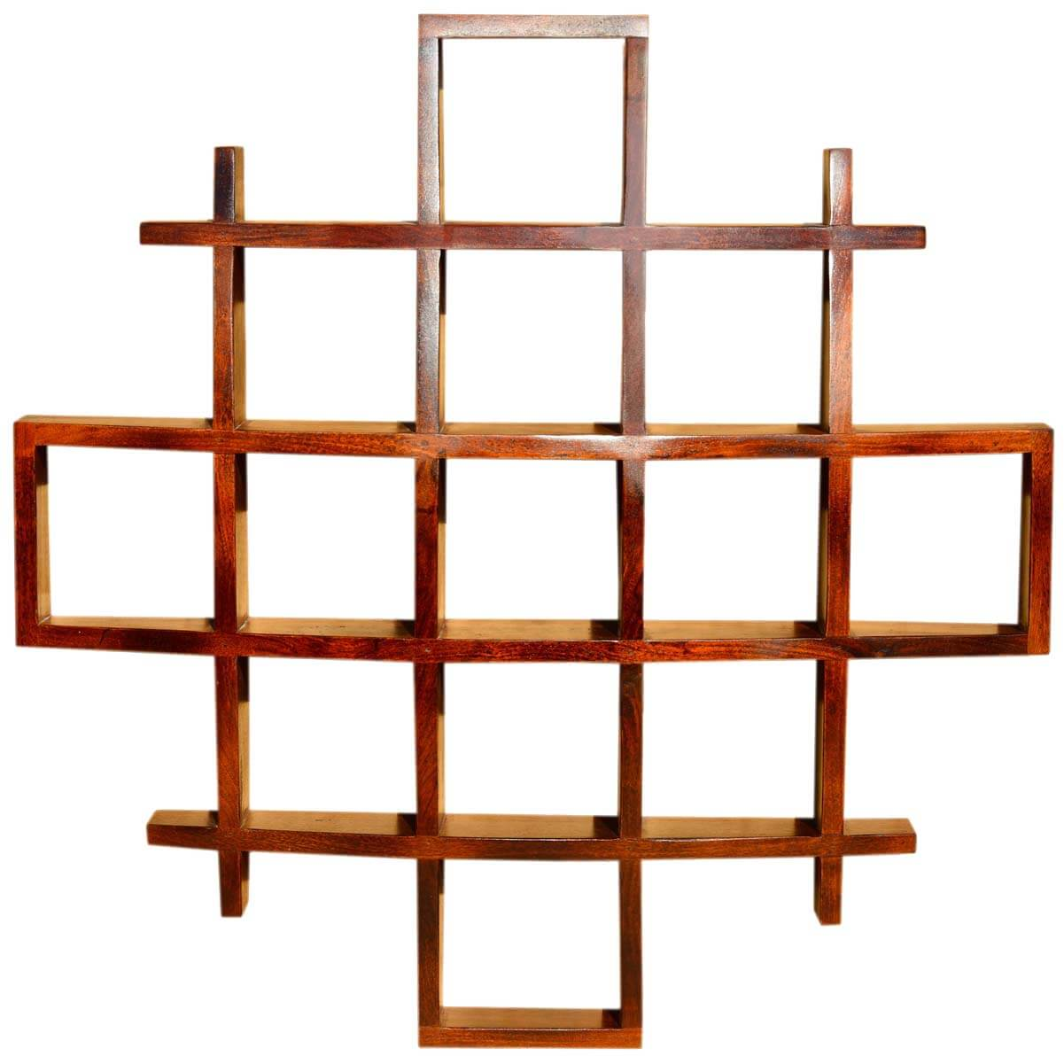 Contemporary Wood Display Wall Hanging Shelves Home Decor