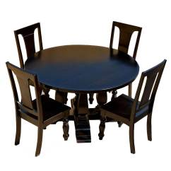 Round Wooden Chair Living Room Accent Chairs Mango Wood Lincoln Study Black Dining Table And Set