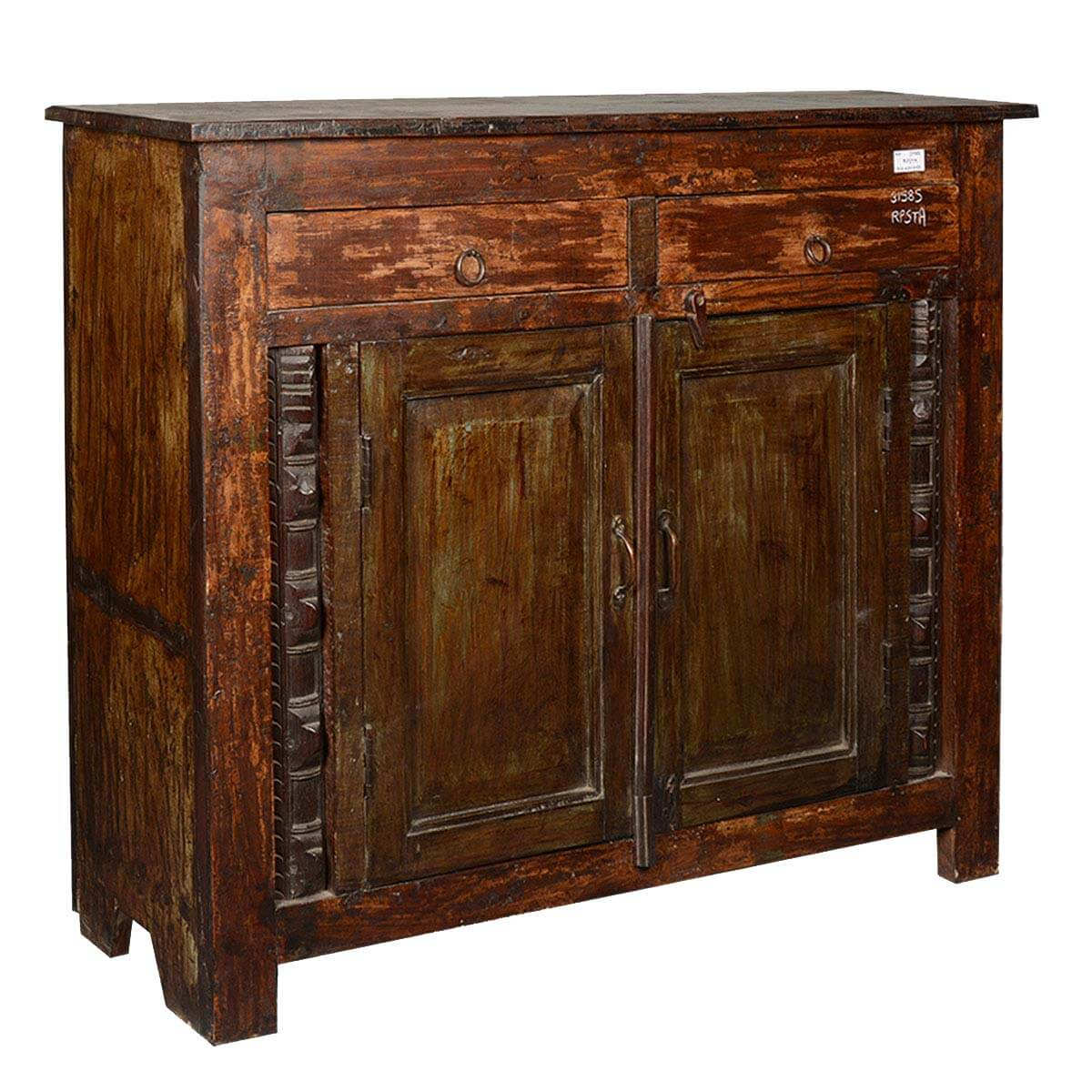 Wild West Rustic Reclaimed Wood Furniture Storage Console