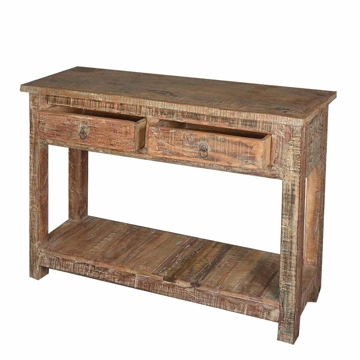 rustic cream sofa table modern outdoor sectional reclaimed wood naturally distressed hall console
