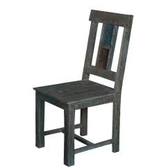 Wooden School Chairs Dining Table With Midnight Shadow Reclaimed Wood Back Chair