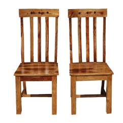 Wooden School Chairs Stackable Resin Lowes Oklahoma Farmhouse Solid Wood Back Set Of 2