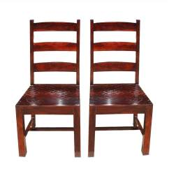 Unfinished Ladder Back Chairs Heywood Wakefield Dining Chair Styles Oklahoma Farmhouse Solid Wood Set Of 2