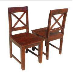 Farmhouse Dining Chairs Pier 1 Oklahoma Solid Wood X Back Chair Set Of 2