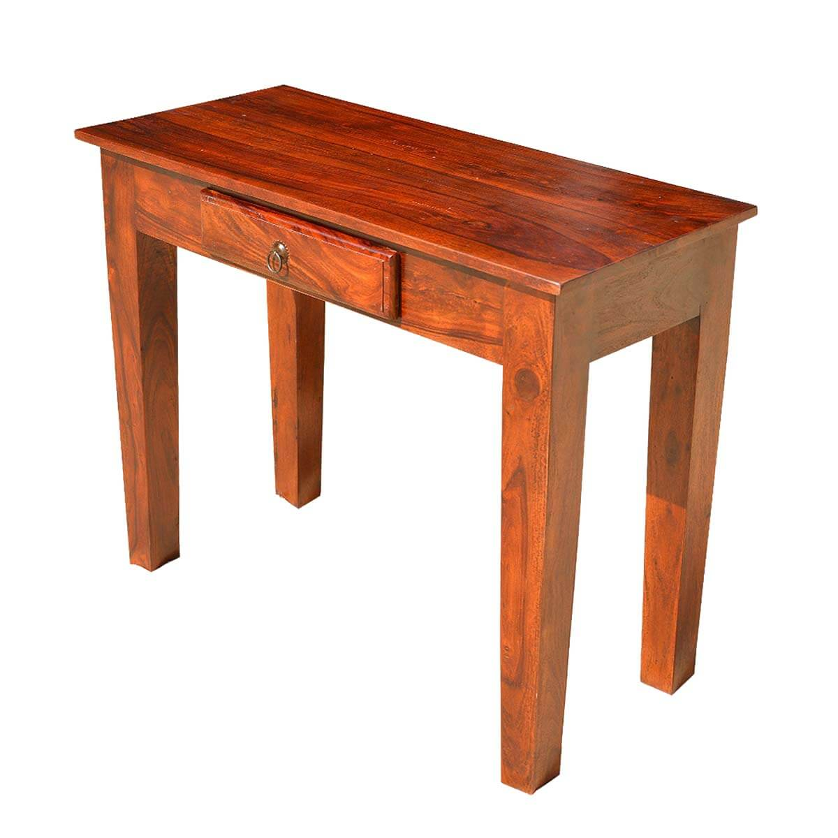 solid cherry sofa table rolf benz reviews rustic wood entry hall console with drawer