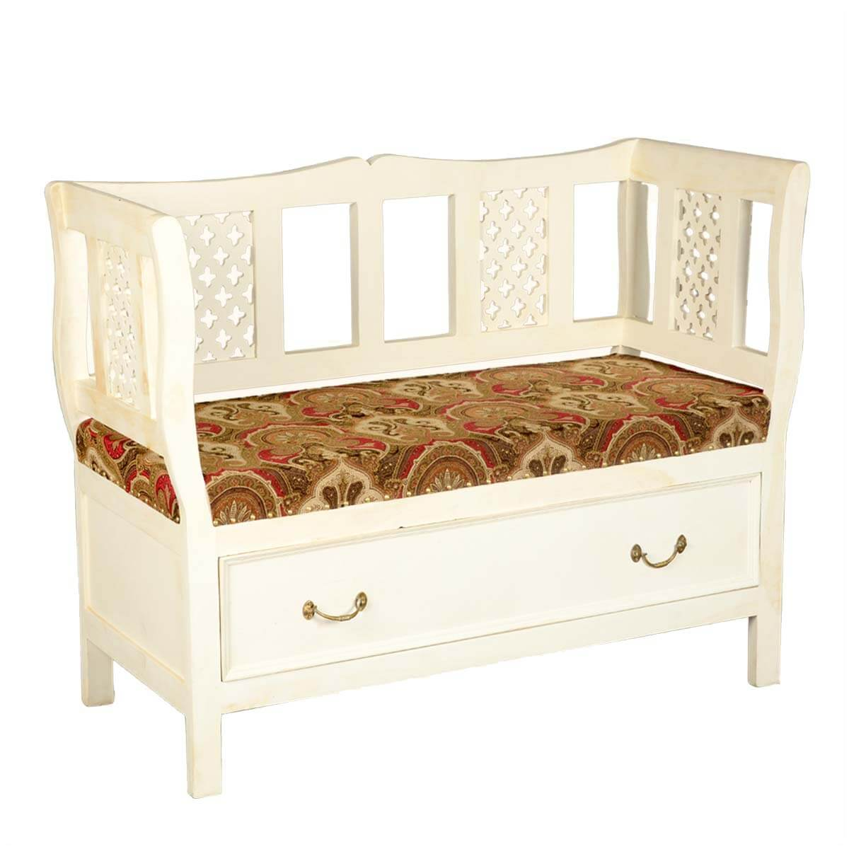 sofa with storage india cute sofas for sale solid hardwood and fabric upholstered white bench