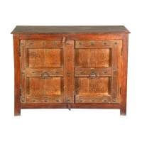 Camelot Gothic Reclaimed Wood Console Buffet Storage Cabinet