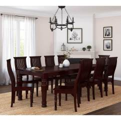 Rustic Dining Table And Chairs Sleeper Colonial American Large Wood 10