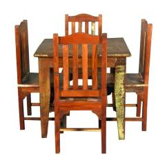 Barnwood Dining Room Chairs Best Heavy Duty Barber Norwalk Reclaimed Wood Square Table With 4 Set