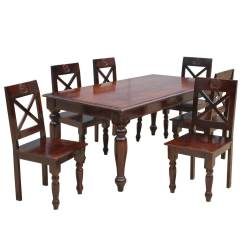 Rustic Dining Table And Chairs Shower Chair With Arms Backrest Texas Set
