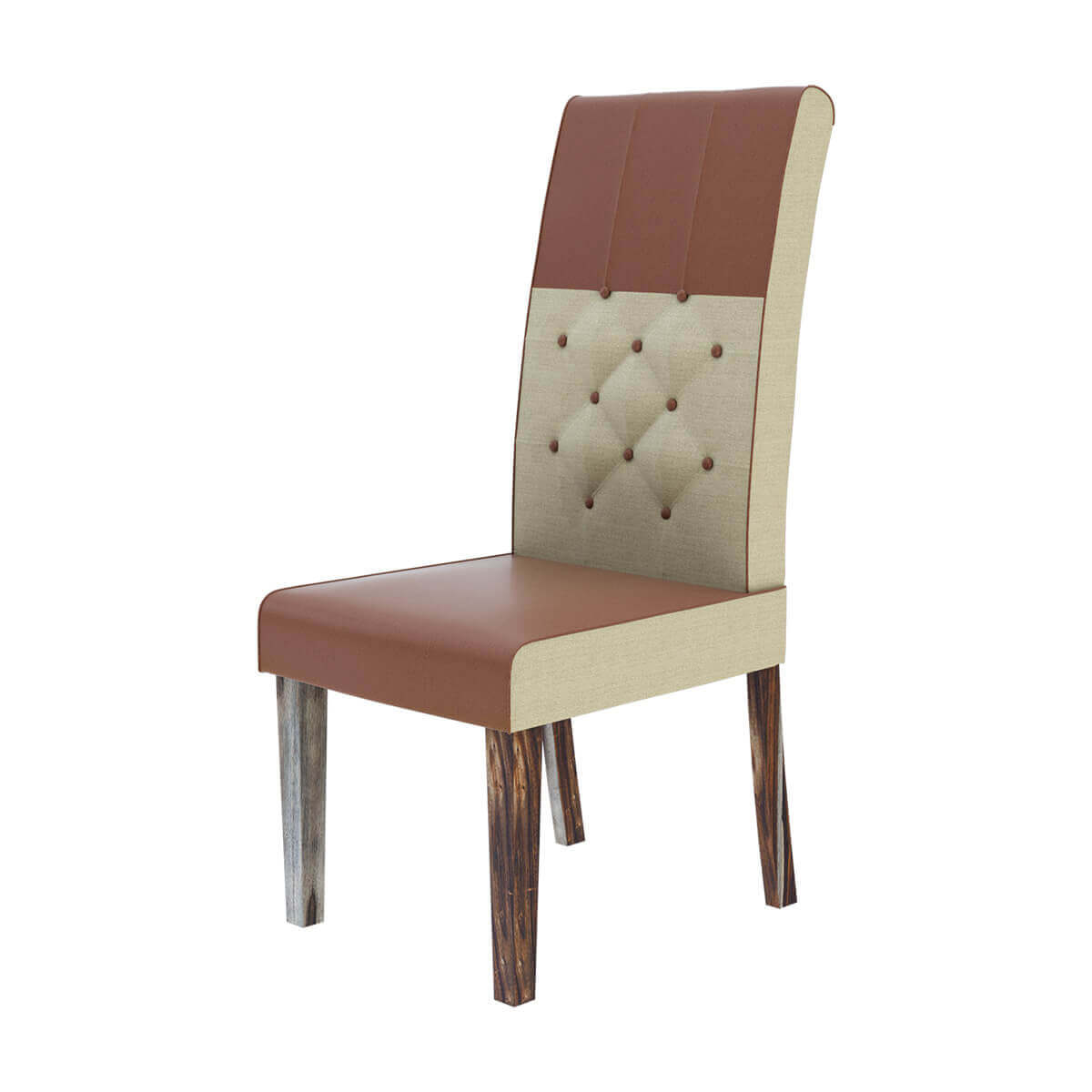 dining chairs fabric oxo high chair tray cover hosford handcrafted leather and tufted parson