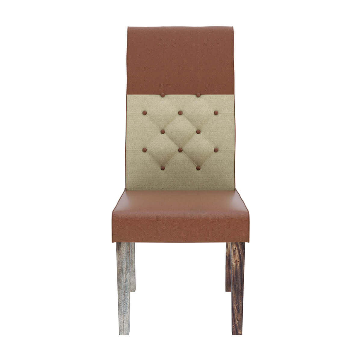 leather tufted dining chair small travel beach chairs hosford handcrafted and fabric parson