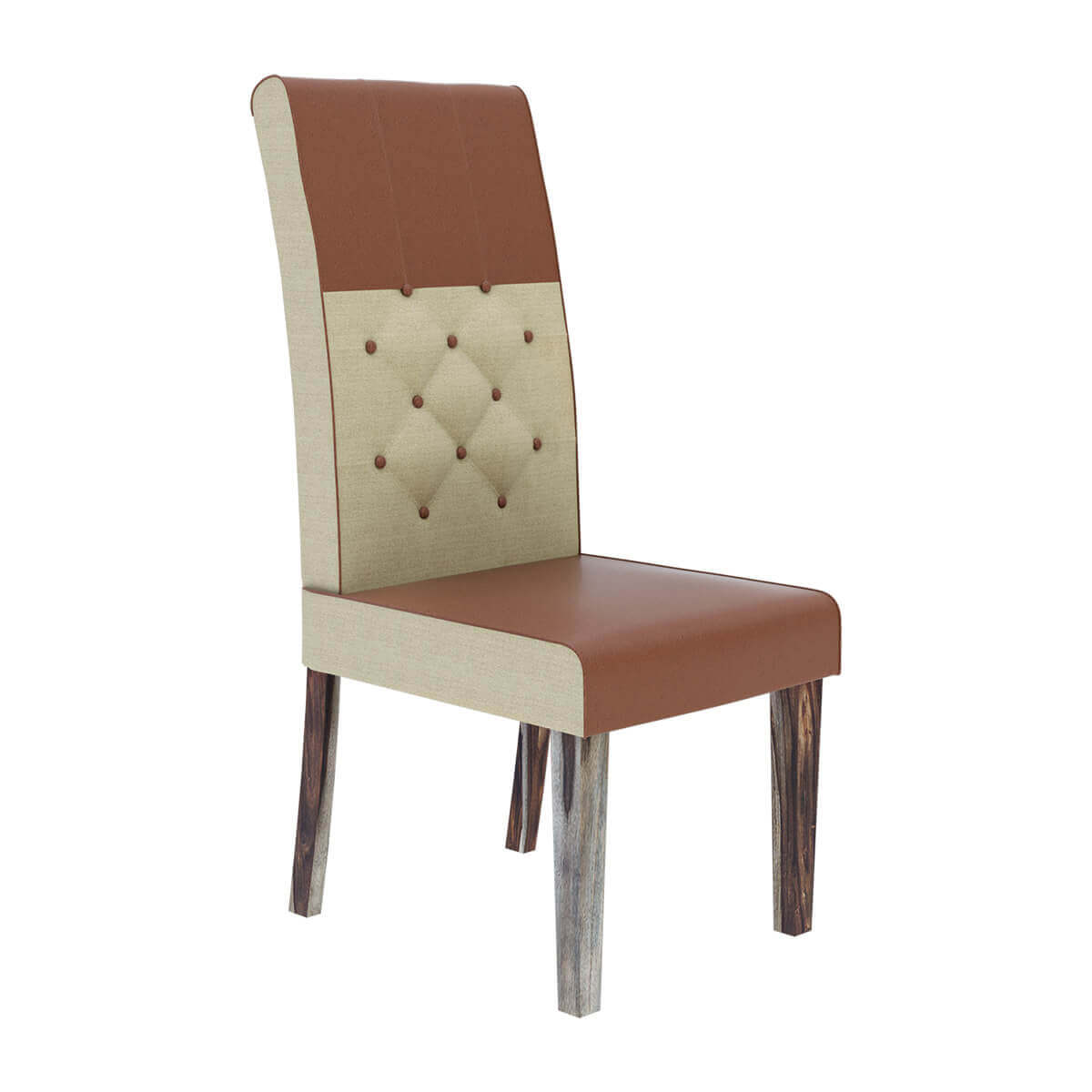 leather tufted dining chair covers for lazy boy hosford handcrafted and fabric parson