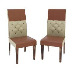 Leather Tufted Dining Chair Office Officeworks Hosford Handcrafted And Fabric Parson