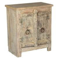 Amish 2 Door Old Wood Small Rustic Accent End Table ...