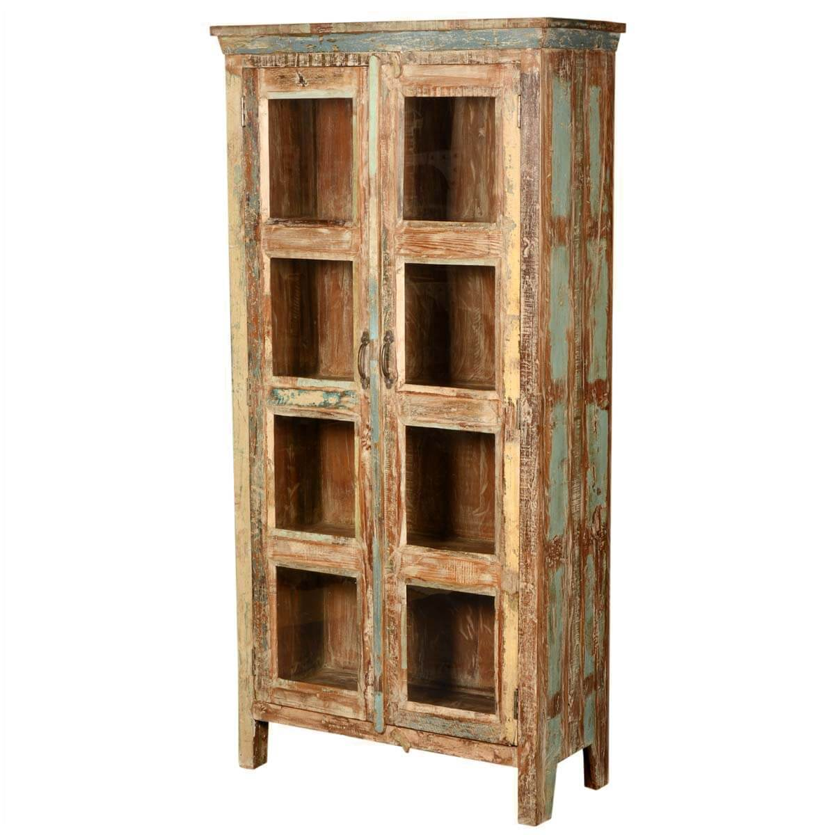 New Memories Solid Reclaimed Wood Display Cabinet