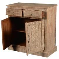 Lanark Rustic Reclaimed Wood 2 Door 2 Drawer Storage Cabinet