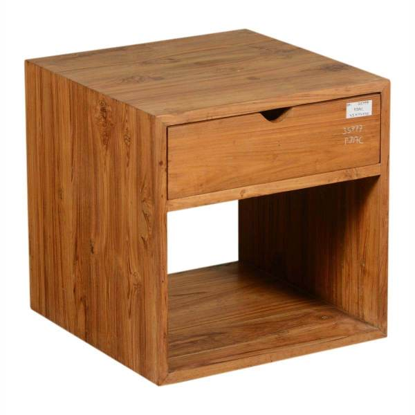 Wood Cube Storage with Drawers