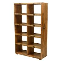 "59"" Open Back Bookcase Display Wall Unit"