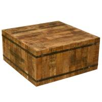 Hand Crafted Rustic Reclaimed Wood and Iron Coffee Table