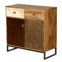 60's Retro Mango Wood Free Standing 2 Drawer Kitchen ...