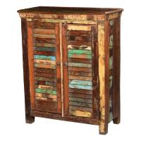 Tennessee Reclaimed Wood Shutter Doors Rustic Storage Cabinet