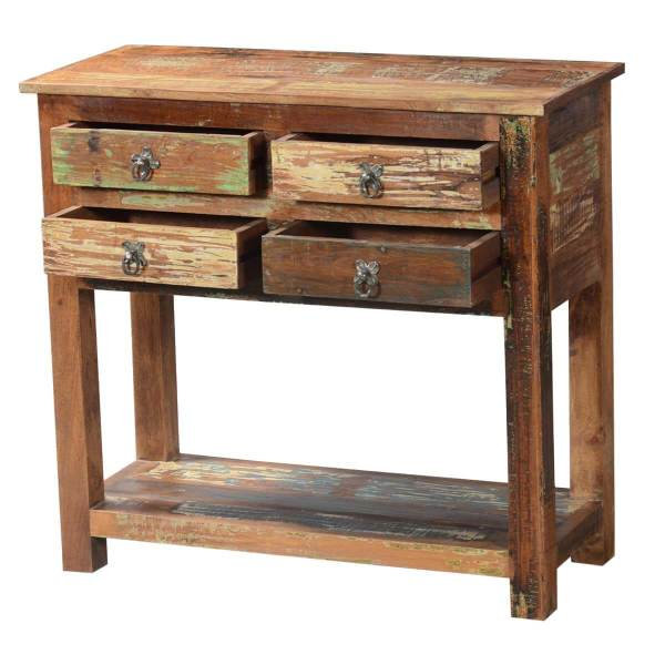 Reclaimed Wood Console Table with Drawer