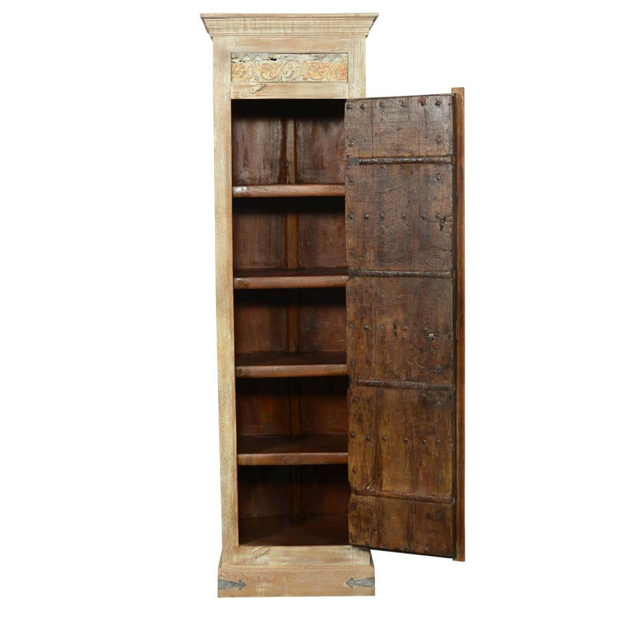 82 Tall Reclaimed Wood Storage Armoire Cabinet
