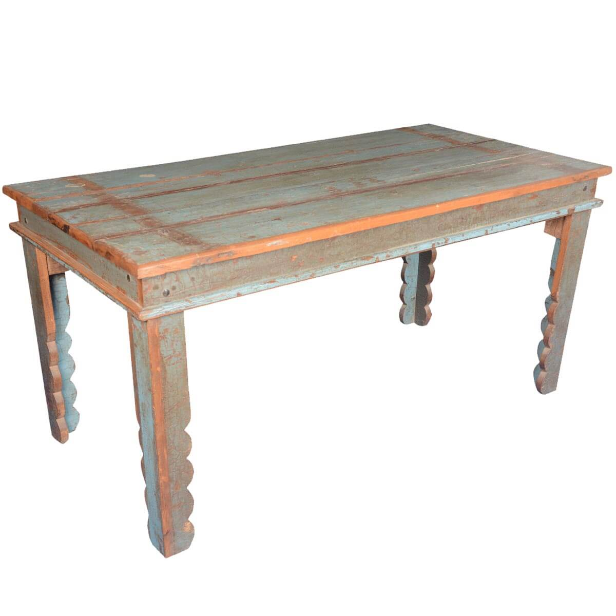 distressed kitchen table reclaimed wood cabinets appalachian rustic pastel