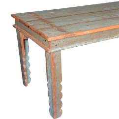 Distressed Kitchen Table Industrial Islands Appalachian Rustic Reclaimed Wood Pastel