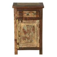 Cleveland Distressed Reclaimed Wood 1 Drawer Nightstand ...